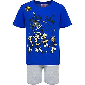 Fireman sam boys pyjama set short sleeve