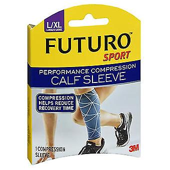 Futuro sport performance compression calf sleeve, large/x-large, 1 ea
