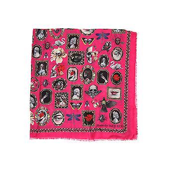 Alexander Mcqueen 5686933a34q5579 Mujeres's Fuchsia Modal Bufanda