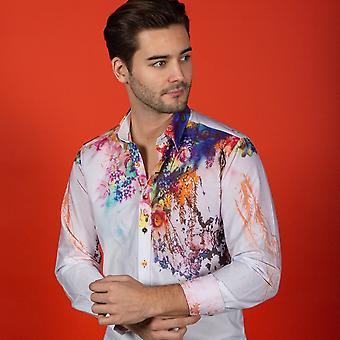CLAUDIO LUGLI Floral Shoulder Placement Shirt
