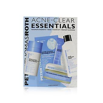 Acne clear essentials 5 piece acne kit: wash 57ml+correction pads 20 pcs+moisturizer 20ml+treatment 7.5ml+clear dots 12 dots 247783 5pcs