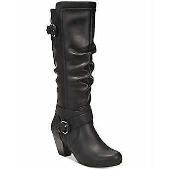 Rialto Womens Crystal Closed Toe Knee High Fashion Boots
