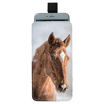 brun hest universell mobil bag