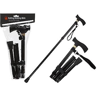 Summit Adjustable Folding Walking Stick, Lightweight Adjustable Walking Stick, Portable Cane with Ergonomic Handle
