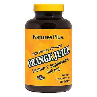 Nature's Plus Orange Juice C 500mg Chewable Tabs 90 (2465)
