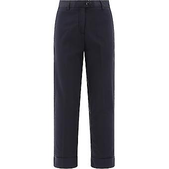 Woolrich Wwtr0058frut15133989 Women's Blue Cotton Pants
