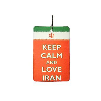 Keep Calm And Love Iran Car Air Freshener
