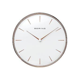 Bering wall clock Quartz 292mm rose gold glossy 90292-64R