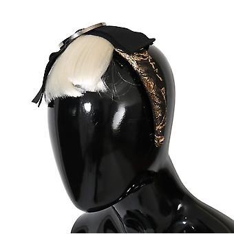 Dolce & Gabbana Black Crystal White Diadem Headband SMY1071