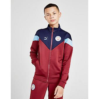 New Puma Kids' Manchester City FC Icon Track Jacket Red