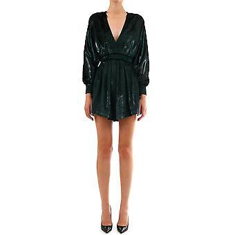 Balmain Sf16688x2347pa Women's Green Polyester Dress
