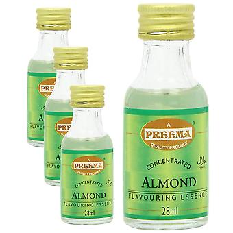 4 x 28ml Almond Essence Baking Aroma Smak Koncentrerade Kakor Cookies