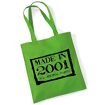 18th Birthday Tote Bag Made In 2001 Novelty Birthday Gifts