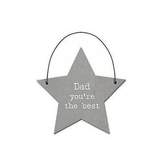 Dad You're the Best - Mini Wooden Hanging Star - Cracker Filler Gift