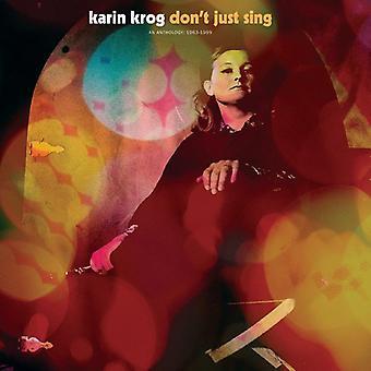 Karin Krog - Don't Just Sing / an Anthology: 1963-1999 [CD] USA import