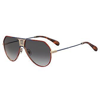 Givenchy GV7137/S 4E3/9O Red-Blue/Dark Grey Gradient Sunglasses