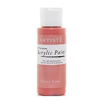 Dusty Rose Docrafts Artiste All Zweck Acryl Handwerk Farbe - 59ml