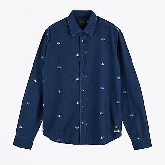 Scotch & Soda  - Printed Indigo Shirt - Blue