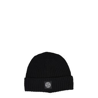 Stone Island 7315n10b5v0029 Men's Black Wool Hat