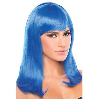 Perruque d'Hollywood - Bleu