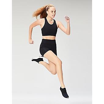 ブランド - コア 10 女性&アポ;s ロングライン ポケット スポーツ ブラ, ブラック, ミディアム