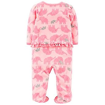 Enkla glädjeämnen av Carter & apos; s Baby Girls' 2-Pack Fleece Footed Sleep and Play, Monk...
