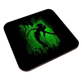 Alien Vs Predator Grønn Coaster