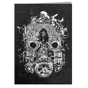 Borderlands 3 Maske af Mayhem White Print Lykønskningskort