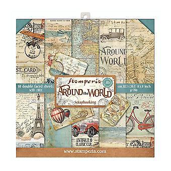 Stamperia rund um die Welt 8 x 8 Zoll Papier pack