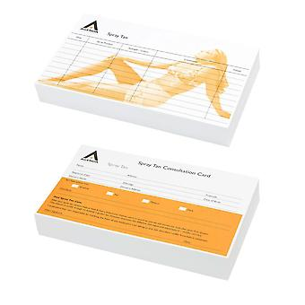 Agenda record cards spray tan