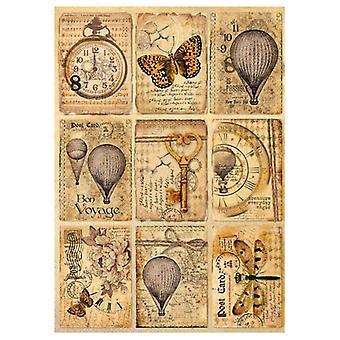ورقة الأرز A4 مزيج بطاقات بريدية وسائل الإعلام (DFSA4240)