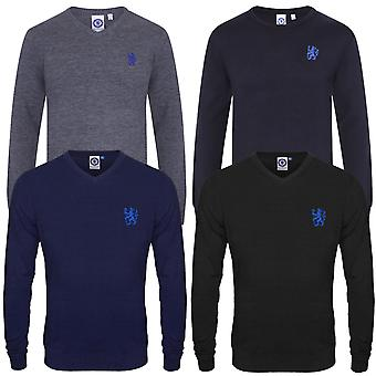 Chelsea FC Mens Jumper Knitted Crest Lion OFFICIAL Football Gift