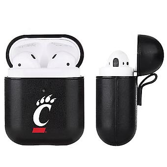 Cincinnati Bearcats NCAA Fan Brander Black Leather AirPod Case