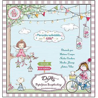 DayKa Trade Momentos Inolvidables Niña 8x8 Inch Paper Pad
