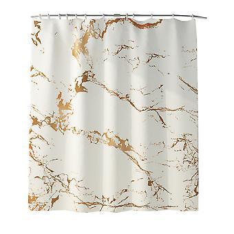 YANGFAN Waterproof Marble Pattern Shower Curtain/Bath Mat