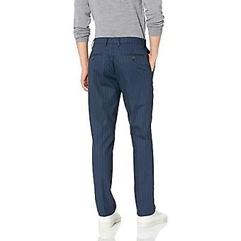 Merkki - Goodthreads Men's Straight-Fit Ryppytön Comfort Stretch Mekko Chino Pant, Navy Pinstripe, 36W x 30L