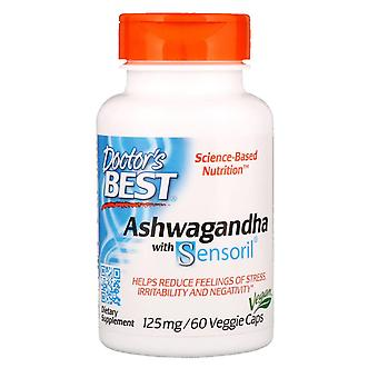 Doctor's Best, Ashwagandha with Sensoril, 125 mg, 60 Veggie Caps