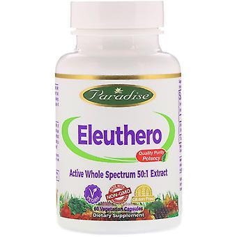 Paradise Herbs, Eleuthero, 60 capsules végétariennes