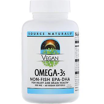 Quelle Naturals, Vegan Omega-3S, Non-Fish EPA-DHA, 300 mg, 60 Vegan Softgels