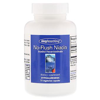 Allergy Research Group, No-Flush Niacin, 75 Vegetarian Capsules