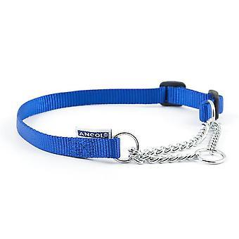 Ancol Nylon Half Check Gallér - Méret 2-4 (18 inch) - Kék