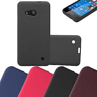 Cadorabo kotelo Nokia Lumia 550 kotelo Cover-matka Puhelin kotelo on valmistettu joustavasta TPU silikoni-silikoni kotelo suoja kotelo erittäin ohut pehmeä takakannen kotelo puskuri