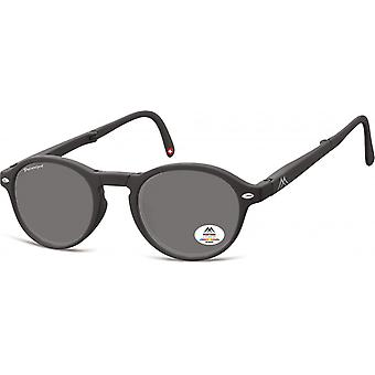 Sunglasses Unisex foldable panto matt black (MP66)