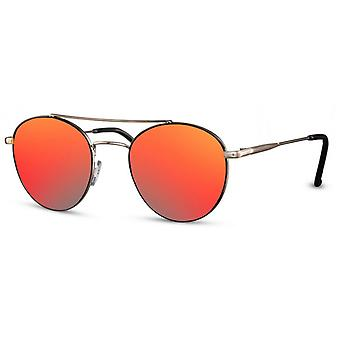 Sunglasses Unisex pilot/panto kat. 3 gold/red