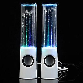 Alto-falante de água dançante sem fio com fonte de luz led para festa em casa