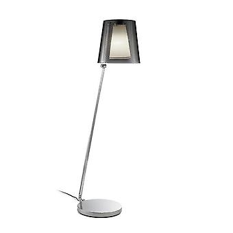 Leds-C4 GROK - 1 Light Adjustable Floor Lamp Chrome with Smoked Shade, E27