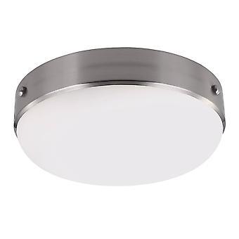 2 Licht Flush Plafond licht geborsteld staal, E27