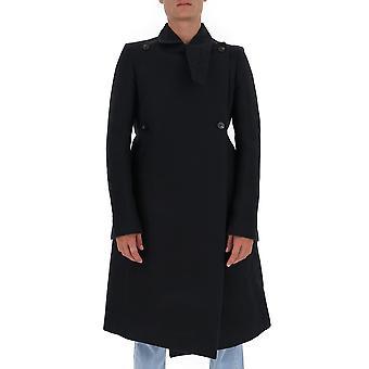 Rick Owens Ru20f3982dg0944 Men's Black Cotton Coat