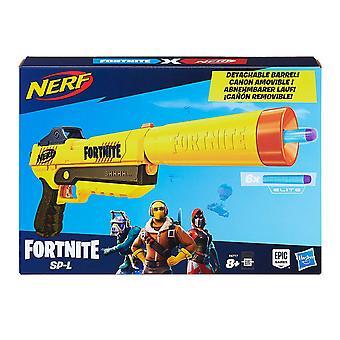 Nerf Fortnite SP-L Blaster with Detachable Barrel and 6 Official Fortnite Elite Darts