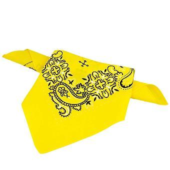 Ties Planet Yellow, White & Black Paisley Patterned Bandana Neckerchief